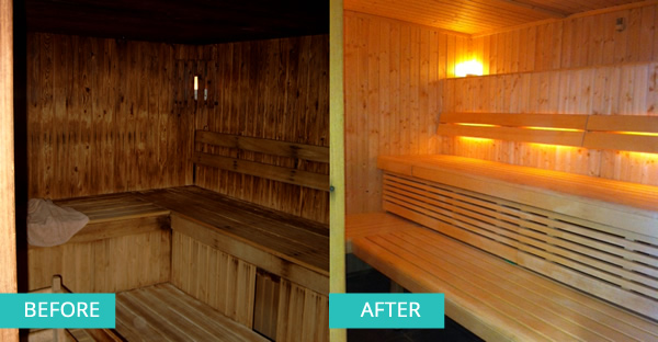 Before After Sauna
